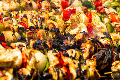 Kebaby na grillu Zdjęcia Stock