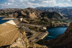 Keban, a Hydroelectric Energy Dam Stock Photo