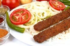 Kebap de Adana Imagen de archivo libre de regalías
