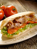 Kebap sandwich on dish Stock Photos