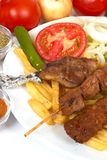 Kebap special. Turkish traditional kebap specials ready to serve Royalty Free Stock Images