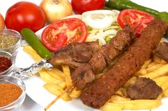 Kebap special. Turkish traditional kebap specials ready to serve royalty free stock photo