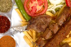Kebap special. Turkish traditional kebap specials ready to serve Royalty Free Stock Photography