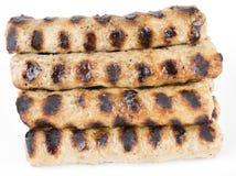 Kebapche búlgaro Roasted das bolas de carne Foto de Stock Royalty Free