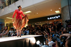 Kebaya Model on Stage Stock Photo