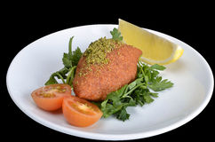 Kebbeh. Ground red meat with crushed wheat, Turkish and Arab cuisine. Turkish name is İçli Köfte Stock Images