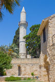Kebir Mosque, Larnaca, Cyprus. Buyuk or Kebir Mosque, Larnaca, Cyprus. Situated at the end of Athens Avenue just opposite Larnaka (Larnaca) Fort, Buyuk Mosque is Stock Photo