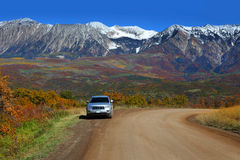 Kebler pass drive Royalty Free Stock Image