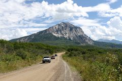 Kebler Pass at Marcellina Mountain Royalty Free Stock Image
