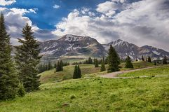 Kebler Pass Mountain Range royalty free stock photography