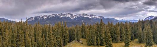 Kebler Pass Panorama, Colorado, USA royalty free stock photography
