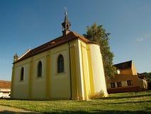 2016/07/04 Keblice, Tjeckien - kyrklig Kostel svateho Vaclava efter rekonstruktion Arkivfoto
