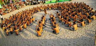Kecak dance. Traditional dance of bali is tell story of ramayana Stock Images