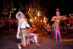 Kecak Dance on Bali island Stock Photos