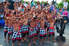 Kecak dance. DENPASAR - JULY 27: Traditional Balinese Kecak dance shown in Denpasar, Bali, Indonesia on July 27, 2010. Kecak (also known as Ramayana Monkey Chant Royalty Free Stock Image