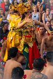 Kecak Fire dance performer portraying as Sita
