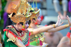 The Kecak Fire Dance at Uluwatu Temple, Bali, Indonesia Royalty Free Stock Photos