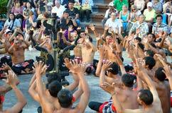 The Kecak Fire Dance at Uluwatu Temple, Bali, Indonesia Stock Image