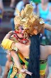 The Kecak Fire Dance at Uluwatu Temple, Bali, Indonesia Stock Photo