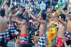 The Kecak Fire Dance at Uluwatu Temple, Bali, Indonesia Royalty Free Stock Photo