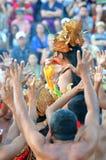 The Kecak Fire Dance at Uluwatu Temple, Bali, Indonesia Royalty Free Stock Photography