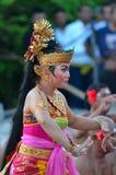 The Kecak Fire Dance at Uluwatu Temple, Bali, Indonesia Stock Photos