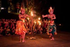 Kecak Tanz auf Bali-Insel Lizenzfreies Stockfoto
