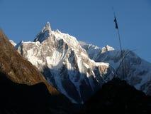Kechakyu Himal from village Bhimtang - Nepal Royalty Free Stock Images