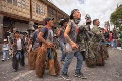 Kechwa men at Inti Raymi parade Stock Images