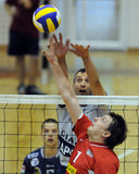 Kecskemet - Kaposvar volleyball game Stock Image