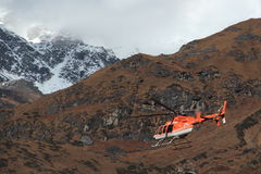 Kedarnath heli service. Stock Photo