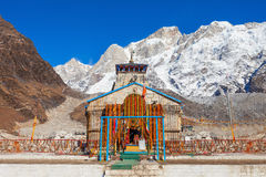 Kedarnath in India. Kedarnath Temple is a Hindu temple dedicated to Lord Shiva, which located in the Garhwal Himalayas, India Royalty Free Stock Photography