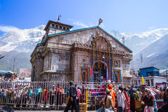 The Kedarnath temple in the Indian Himalayas. Royalty Free Stock Image