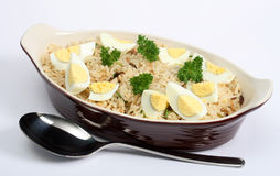 Kedgeree rice with eggs and parsley horizontal Stock Photos