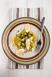 Kedgeree a scottish meal with haddock, rice, cardamom, egg and l Stock Image