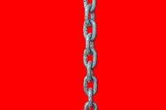 Kedja på röd bakgrund Fotografering för Bildbyråer