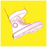 Keds sketch. Vector keds sketch in cartoon style Royalty Free Stock Photography