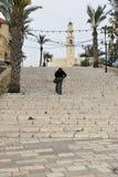 Kedumim Quadrat und St- Peter` s Kirche in der oberen Stadt von Jaffa, Tel Aviv, Israel Stockbild