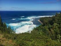 Kee Beach Kauai image libre de droits
