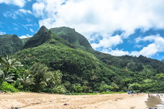 Kee Beach in Kauai, Hawaii. View of Kee Beach at the North of Kauai, Hawaii Stock Image