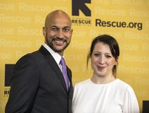 Keegan-Michael Key and Elise Pugliese. Actor, comedian, and producer Keegan-Michael Key arrives at the International Rescue Committee`s 2017 Freedom Award Dinner Stock Image