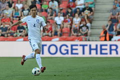 Keehee Kim. PRAGUE 05/06/2015 _ Keehee Kim. Friendly match Czech Reublic - South Korea royalty free stock image