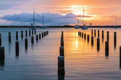 Keehi Harbor Sunset Stock Photography