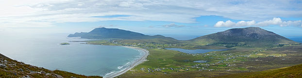 Keel Beach, Achill-Eiland, Ierland stock afbeeldingen