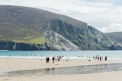 Keel Beach, Achill-Insel, Irland Stockbild