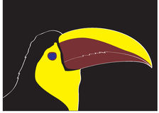 Keel bill toucan. A head of keel bill toucan stock illustration