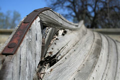 Keel of the old boat Stock Photography