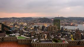Keelung, ορίζοντας της Ταϊβάν απόθεμα βίντεο