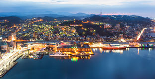 Keelung harbor with cruise terminal. Keelung, Taiwan Stock Photography