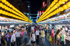 Keelung Miaokou night market, famous throughout Taiwan for its large selection of affordable food Stock Images